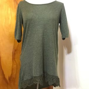 Maurices shirt with crochet bottom detail